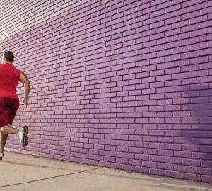 man going for a run outdoors