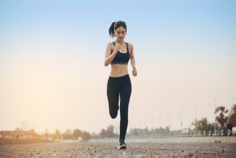 young fitness woman runner