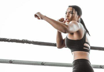a woman doing martial arts