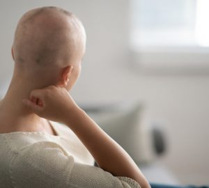 a woman with cancer